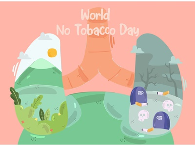 World No Tobacco Day Illustration (4) awareness international anti cigarette smoking vector illustration day tobacco world