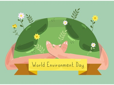 World Environment Day Illustration (2) awareness tree earth pollution nature celebration vector illustration day environment world