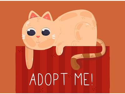 Cat Illustration cartoon character pet kitten adopt mamma animal vector illustration cat