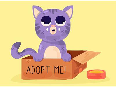 Adopt Pet Concept Illustration mammal kitten carnivora animal cat vector illustration concept pet adopt