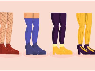 Pantyhouse Illustration legs garment hosiery costume stocking woman fashion vector illustration pantyhouse