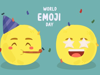 World Emoji Day Illusration face celebration emoticon message smile vector illustration day emoji world