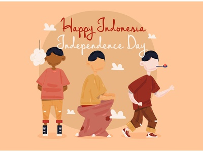 Indonesia Independence Day Celebration Illustration august ceremony holiday national vector illustration celebration day independence indonesia