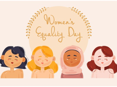 Women's Equality Day Concept Illustration gender female event celebration vector illustration concept day equality women