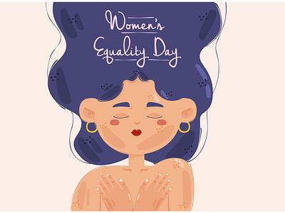 Women's Equality Day Theme Illustration gender female august celebration vector illustration theme day equality women