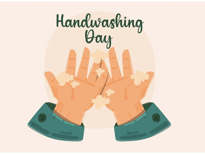 Handwashing Day Concept Illustration clean motivate campaign global vector illustration concept day wash hand