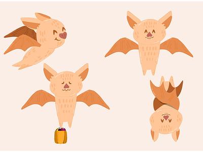 Halloween Bat Illustration party festival pumpkin october animal celebration vector illustration bat halloween
