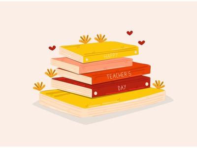 Teacher's Day Illustration greeting celebration book education class school vector illustration day teacher