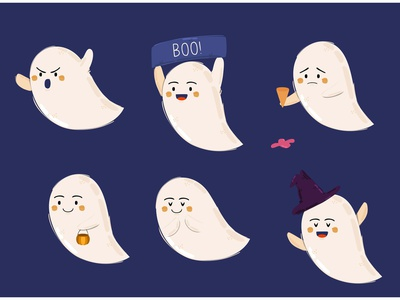 Halloween Ghost Illustration october party character festival scary celebration vector illustration ghost halloween