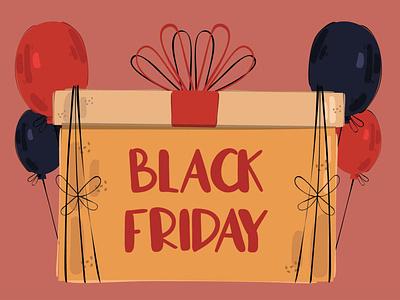 Black Friday Gift Box Concept Illustration store november background vector illustration concept box gift friday black