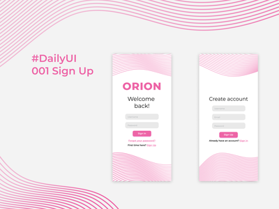 #Daily UI 001 SignUp