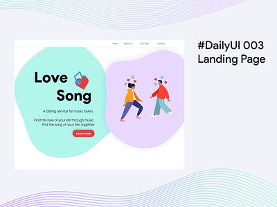 #DailyUI 003 Landing Page