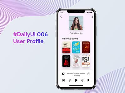 #DailyUI 006 User Profile app ux ui design