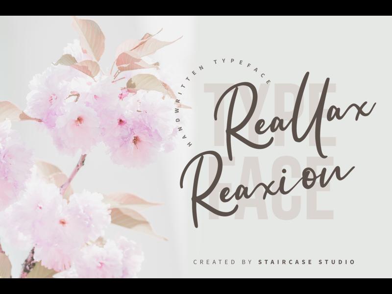 Reallax Reaxion Font invitation logotype branding fonts font typeface hand drawn handwritten script reallax reaxio