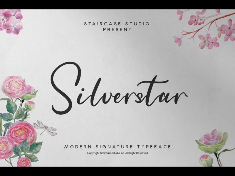 Silverstar Font font design invitation logotype branding fonts font signature typeface modern handwritten script silverstar
