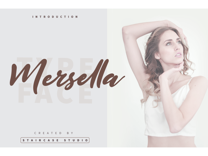 Mersella Font invitation wedding brand branding fonts font script handwritten mersella