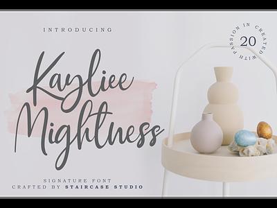 Kayliee Mightness Font landmark wedding invitation branding typeface handwritten script fonts font kayliee mightness
