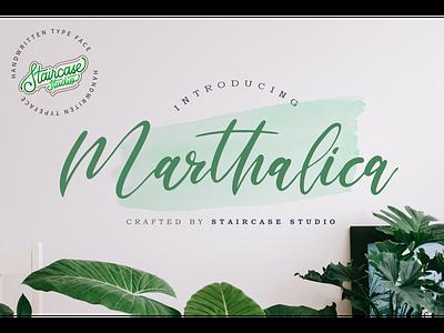 Marthalica Font invitation fonts font merk foodies clothing branding logotype handwritten script marthalica