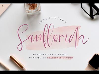 Sanflorida Font logotype fonts font branding foodies handwritten script sanflorida