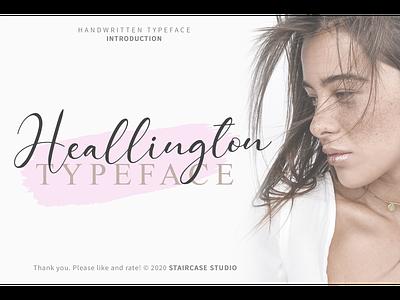 Heallington Font greeting card invitation branding handwritting typeface handwritten fonts script heallington
