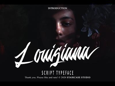 Louisiana Font logotype branding fonts font hand script hand drawn script louisiana