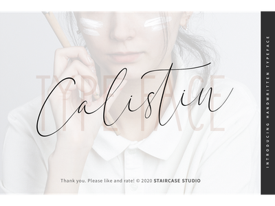 Calistin Font hand drawn branding birthday greeting card invitation typeface handwritten fonts script calistin