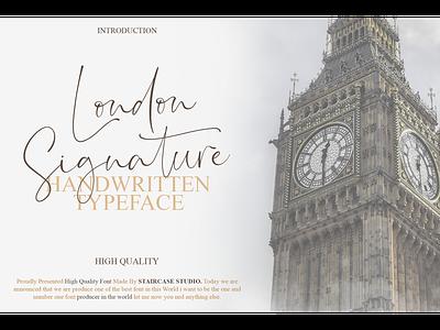 London Signature Font logotype typeface branding fonts script handwritten italic london signature
