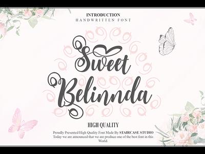 Sweet Belinnda Font logotype typeface branding fonts script handwritten italic sweet belinnda