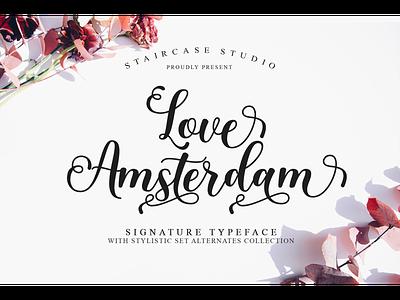 Love Amsterdam Font branding typeface logotype decorative fonts script signature love amsterdam