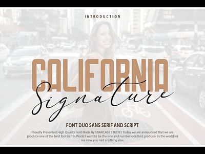 California Signature Font Duo invitation typewriting logotype branding sans serif script fonts font duo signature california