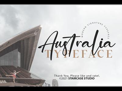 Australia Font decorative foundry typeface logotype branding font script signature australia