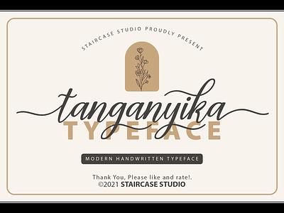 Tanganyika Font decorative logotype branding typeface modern script font handwritten tanganyika