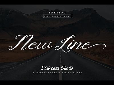Newline decorativefont youtubefont logotype branding elegant handwritten script font newline