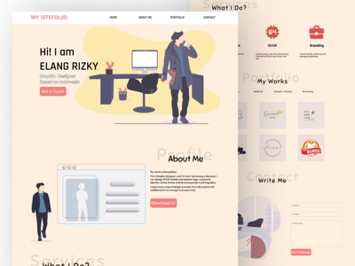 My Sitefolio landing page ux ui figmadesign figma portfolio website landing design landingpage site design design portfolio
