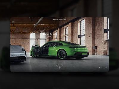 Porsche Taycan 2020 design user interface ui elements 360 view 360 microinteraction animation interaction taycan sport car luxury premium porsche uiux minimalistic art direction uiuxdesign uidesign ui  ux ui
