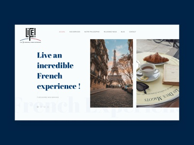 Life! | Live an incredible French experience. website concept website design ui design wordpress slider carousel webdesign website uiux