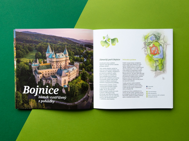 Guide to the Gardens castle czech park gardenscapes garden chateau tourism green typography layout aquarelle history editorial design photography typesetting illustration paper print design