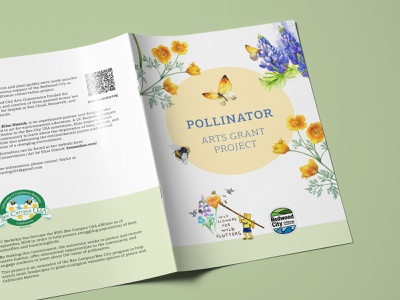 Save the pollinators butterfly california bumble bee bumblebee bee layout paper print design