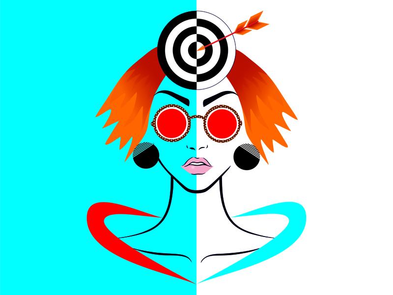 Woman Pop Art print face woman olenakomyshna color popart illustration art fashion illustration fashion illustration