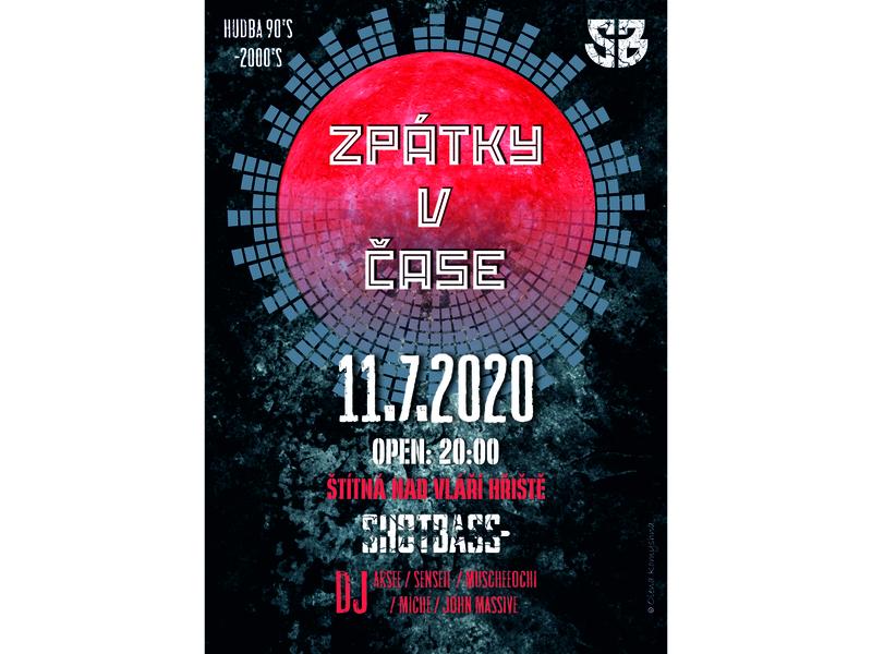 Zpátky v case plakat olenakomyshna party poster poster art poster designer poster design music poster party music party music plakat poster