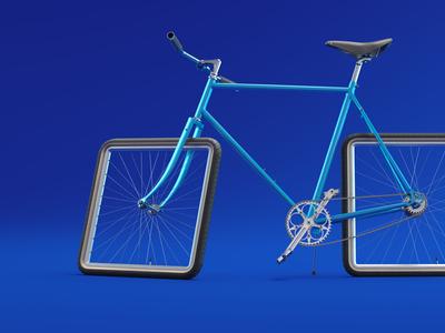 Bike visualization for an ad