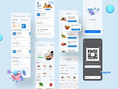 Go to Market - ftripay Digital Wallet App ux mobile ui mobile app design render digital wallet banking payment ui ewallet 3d wallet finance