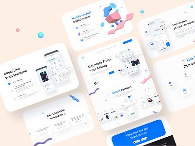 ftripay Digital Wallet - Landing Page landingpage website ux design mobile app design banking payment 3d digital wallet ui ewallet wallet finance