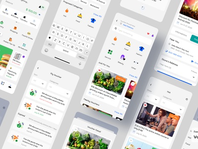 Voucher - Dasun Wallet Mobile Ui Kit ux design ui design mobile app design banking ui payment digital wallet ewallet wallet finance