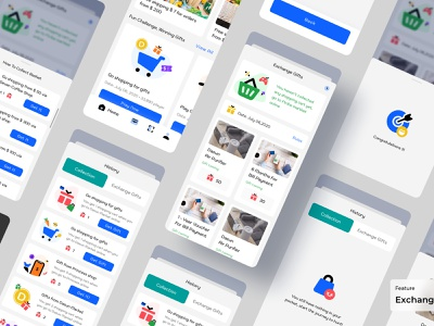 Exchane Gift - Dasun Digital Wallet finance app ux design ui design mobile app design banking payment digital wallet ewallet wallet finance