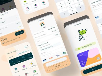 Gepay eWallet - Top Up Link Bank money topup finance app ux design ui design mobile app design banking payment digital wallet ewallet wallet finance