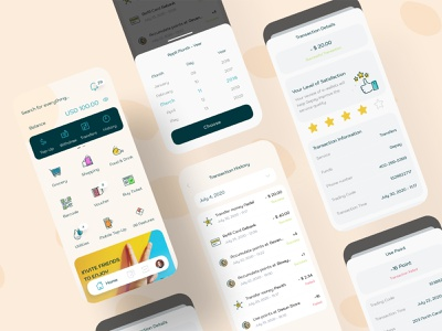 Gepay eWallet - Transaction History bank finance app ux design ui design mobile app design banking payment digital wallet ewallet wallet finance