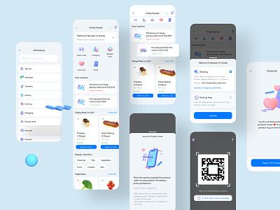 fScan - Digital Wallet App render scan ux design ui design mobile app design banking 3d payment digital wallet wallet ewallet finance