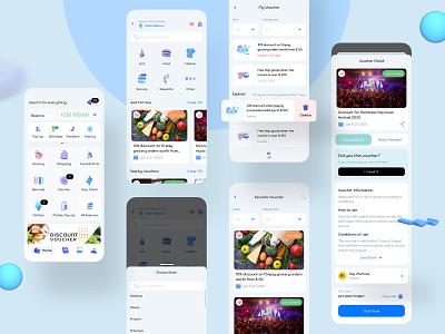 Voucher - ftripay Digital Wallet gift render ux design ui design mobile app design banking 3d payment digital wallet ewallet wallet finance