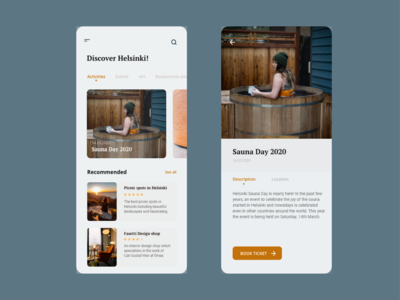 Redesign Discover Helsinki app app guide travel app travel